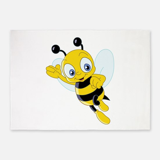 Jumping Bee 5'x7'Area Rug