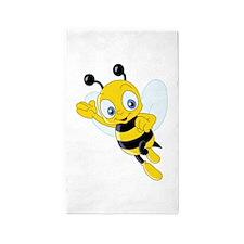 Jumping Bee 3'x5' Area Rug