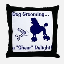 Grooming Shear Delight Throw Pillow