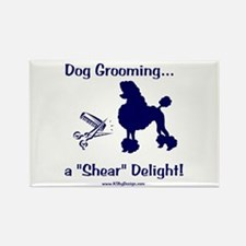 Grooming Shear Delight Rectangle Magnet