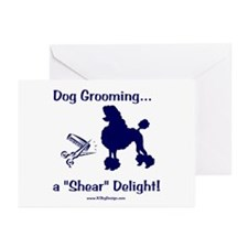 Grooming Shear Delight Greeting Cards (Package of