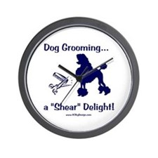 Grooming Shear Delight Wall Clock