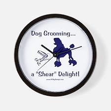 Grooming Shear Delight Wall Clock