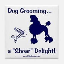 Grooming Shear Delight Tile Coaster