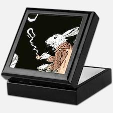 Pipe Smoking rabbit Keepsake Box