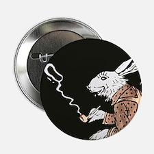 "Pipe Smoking rabbit 2.25"" Button"