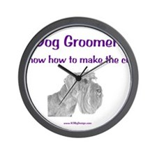 Groomers Make the Cut Wall Clock