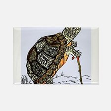 Our wise old friend the turtle Rectangle Magnet