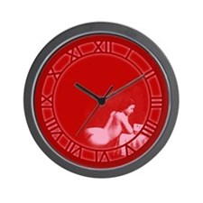 Vintage Risque Valentine Reading Wall Clock