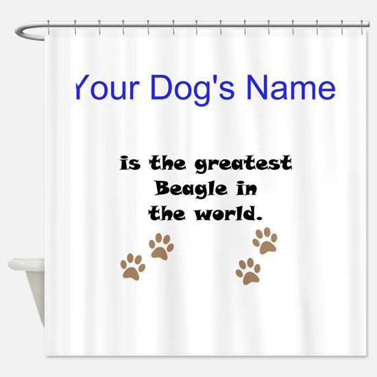 Greatest Beagle In The World Shower Curtain