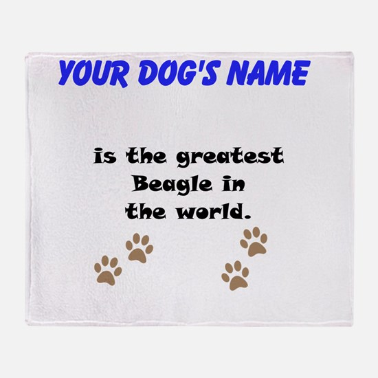Greatest Beagle In The World Throw Blanket