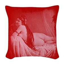 Risque Vintage Valentine Woven Throw Pillow