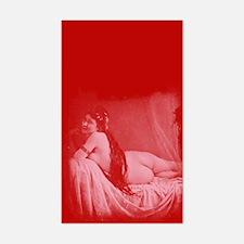 Risque Vintage Valentine Sticker (Rectangle)