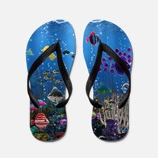 Underwater Love Flip Flops