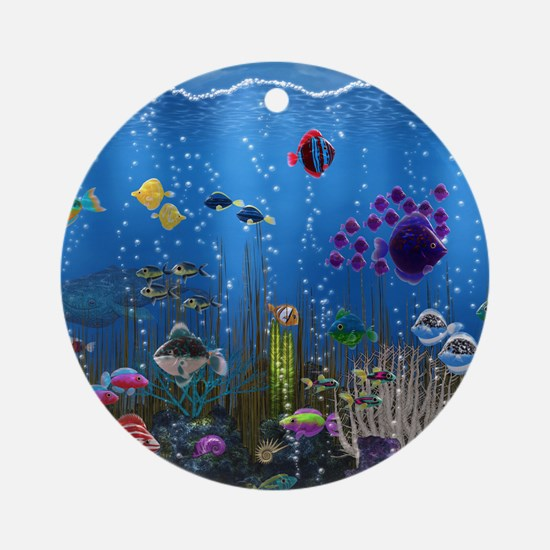 Underwater Love Ornament (Round)