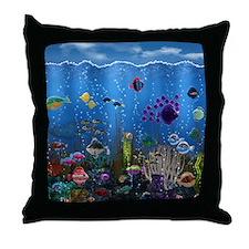Underwater Love Throw Pillow