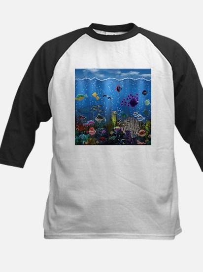 Underwater Love Kids Baseball Jersey