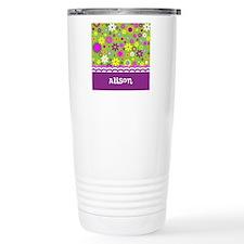 Colorful Flower Pattern Stainless Steel Travel Mug