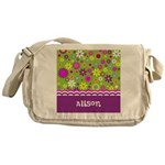 Colorful Flower Pattern Messenger Bag