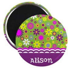Colorful Flower Pattern Magnet