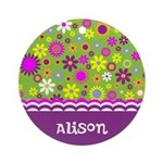 Colorful Flower Pattern Ornament (Round)