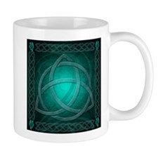 Teal Celtic Dragon Mug