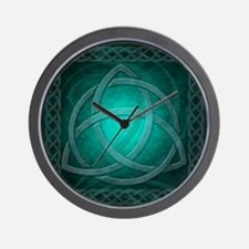 Teal Celtic Dragon Wall Clock