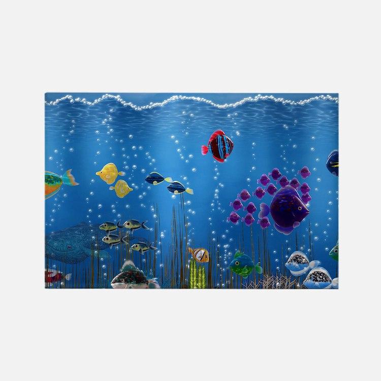 Underwater Love Rectangle Magnet