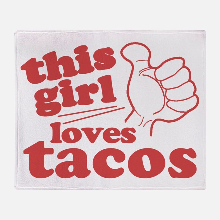 This Girl Loves Tacos Throw Blanket