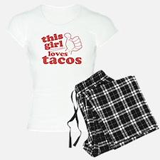 This Girl Loves Tacos Pajamas