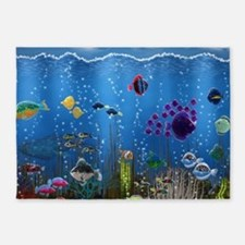 Underwater Love 5'x7'Area Rug