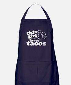 This Girl Loves Tacos Apron (dark)