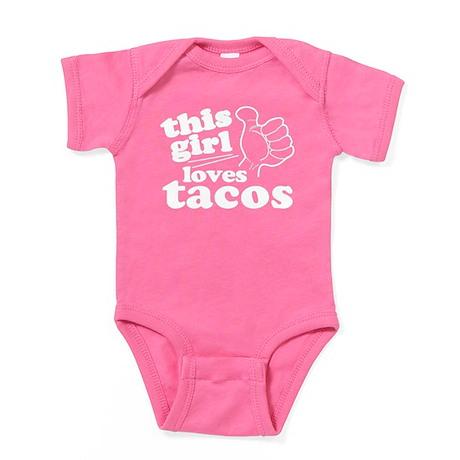 This Girl Loves Tacos Baby Bodysuit