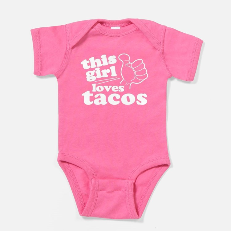 This Girl Loves Tacos Baby Bodysuit