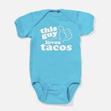This Guy Loves Tacos Baby Bodysuit