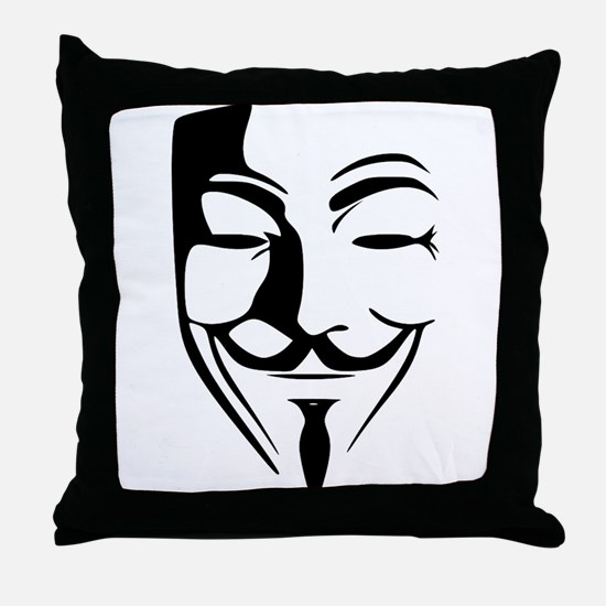 Guy Fawkes Throw Pillow