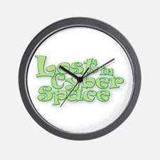 Lost in Cyber Space Wall Clock