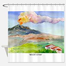 Sicilian Mt. Etna Shower Curtain