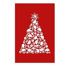 Gothic Skull Xmas Tree Postcards (Package of 8)