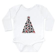 Gothic Skull Christmas Tree Long Sleeve Infant Bod