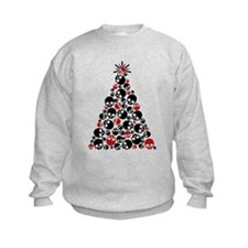 Gothic Skull Christmas Tree Jumpers