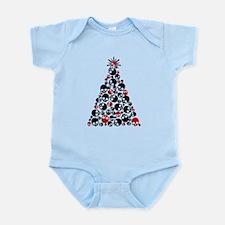Gothic Skull Christmas Tree Infant Bodysuit