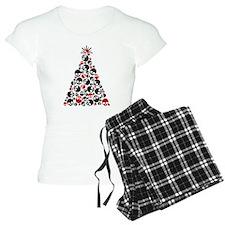 Gothic Skull Christmas Tree Pajamas