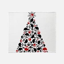 Gothic Skull Christmas Tree Throw Blanket