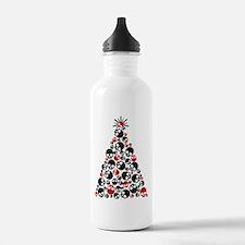 Gothic Skull Christmas Tree Water Bottle
