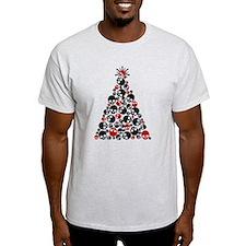 Gothic Skull Christmas Tree T-Shirt