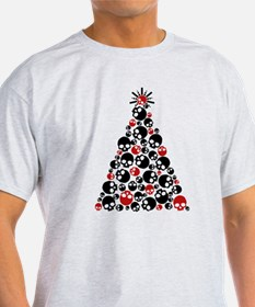 Gothic Skull Christmas Tree T-Shirt