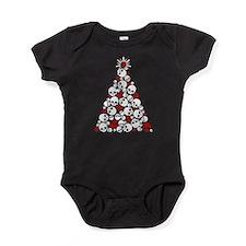 Gothic Skull Christmas Tree Baby Bodysuit
