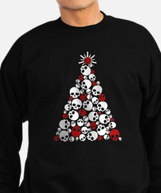 Gothic Skull Christmas Tree Sweatshirt