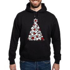 Gothic Skull Christmas Tree Hoodie